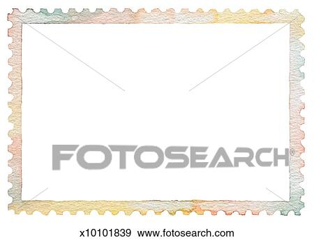 Stock Illustration Of Stamp Border X10101839