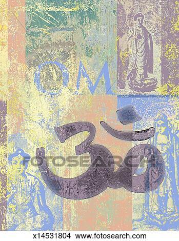 Drawings Of Om Sanskrit Symbol X14531804 Search Clip Art