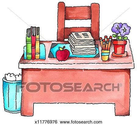 teachers desk clipart real clipart and vector graphics u2022 rh realclipart today teacher desk clipart Classroom Clip Art