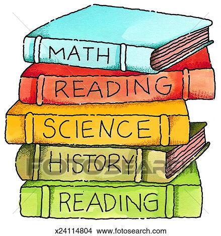 Disegni libri scuola x24114804 cerca illustrazioni for Scuola clipart