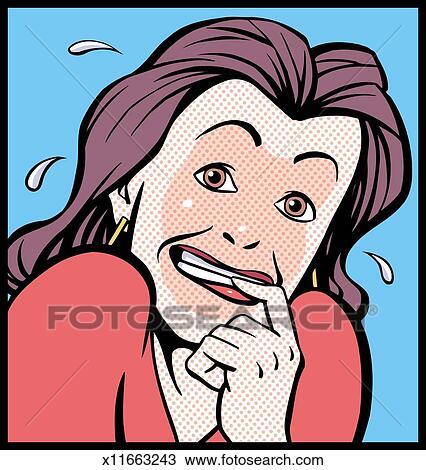 desenho envergonhado mulher x11663243 busca de imagens clip art
