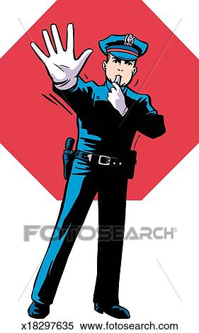 stock illustration of traffic cop x18297635 search clipart rh fotosearch com  traffic cop clipart free