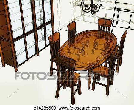 Dessin   Table Salle Manger