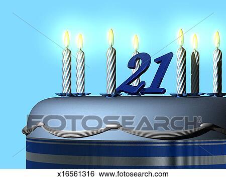 Stock Illustration 21 Geburtstagskuchen X16561316 Suche Clip