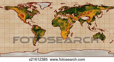 Stock image of altitude map flat projection x21612385 search altitude map flat projection gumiabroncs Image collections