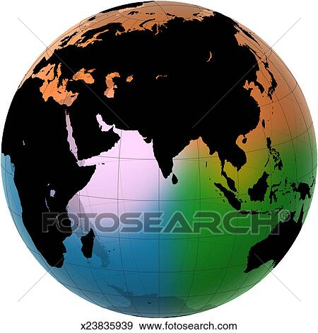 Stock Photograph Of Ocean Current Map Asia And The Indian Ocean