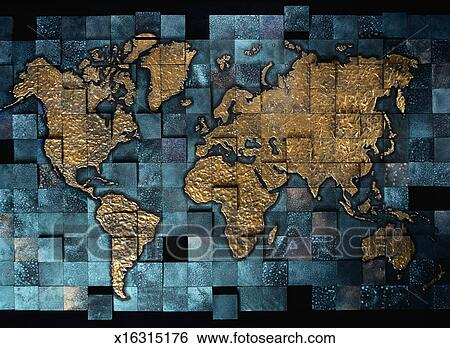 Stock illustration of tile mosaic world map x16315176 search clip stock illustration tile mosaic world map fotosearch search clip art drawings gumiabroncs Choice Image