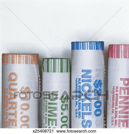 Coin Rolls Stock Image X25408721 Fotosearch