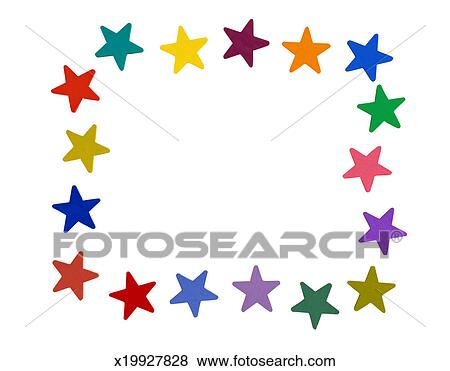 Pictures of Frame of Star Shapes x19927828 - Search Stock Photos ...