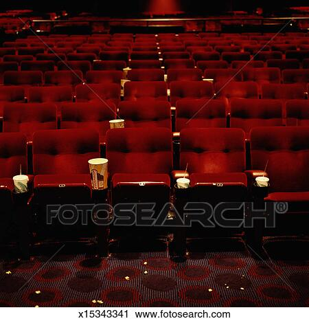 stock photography of empty movie theater x15343341 search stock