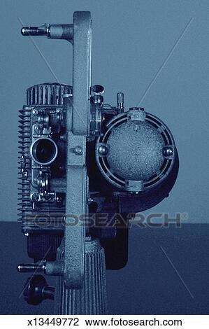 Old-fashioned 8mm film projector Stock Image