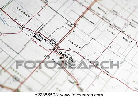 Road map of area around Garden City, New Jersey, extreme ...