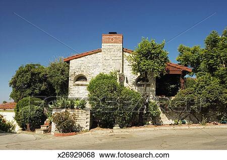 Bilder Fassade Von A Spanischer Stil Haus Los Angeles