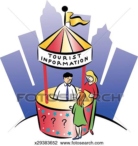 clip art of mother child at tourist booth x29383652 search