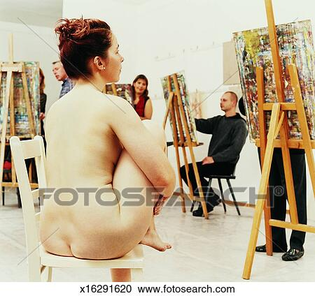 Nude male and female models