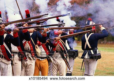 Reenactment of Revolutionary war soldiers Picture