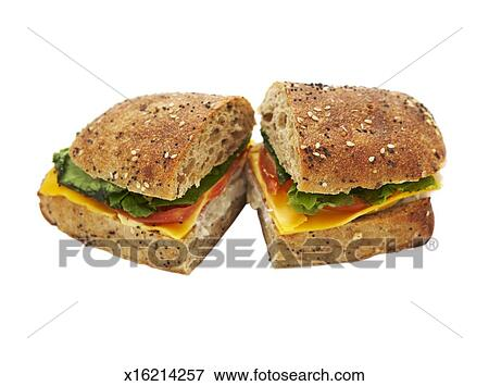 Picture Of Turkey Sandwich On White Background X16214257 Search