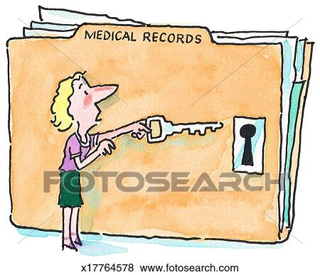 Stock Illustration of Patient Access to Medical Record x17764578 ...