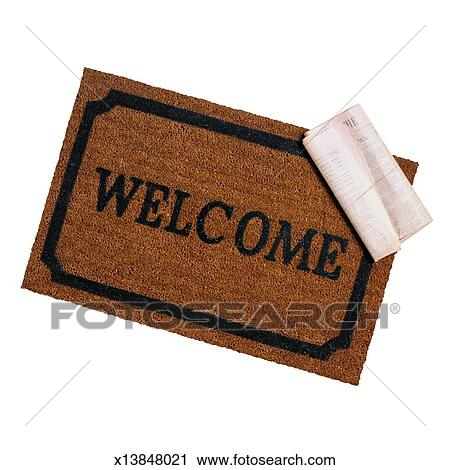 Welcome Mat And Newspaper