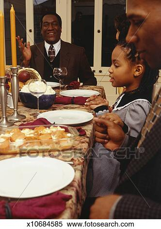 Stock Image Of Family Eating Thanksgiving Dinner X10684585 Search