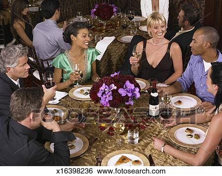 Stock Images Of People Around Around Dinner Table In