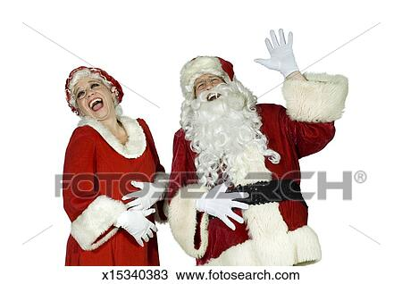 Santa And Mrs Claus Laughing