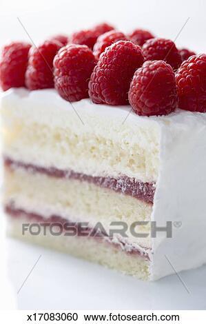 Stock Fotografie Vanille Kuchen Mit Buttercream Zuckerguss