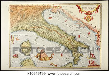 Italy Map 1500.Stock Illustration Of Map Of Italy In 1500 X10949799 Search Vector