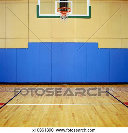 Stock photography of basketball court x10361390 search for Basketball court mural