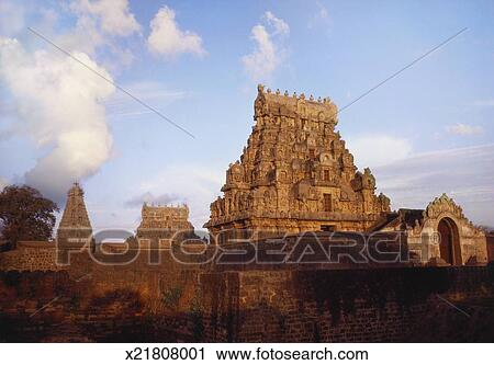 Stock Photography Of Brihadeshwara Temple Thanjavur Tamil Nadu