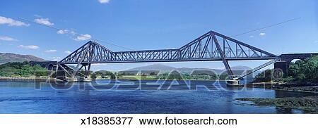 Connell Bridge Over Loch Etive, Strathclyde, Scotland Stock Photo