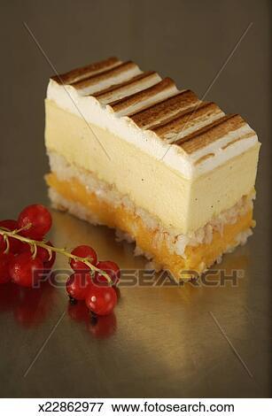 Bild Vanille Bayrische Sahne Kuchen Mit Italienischer