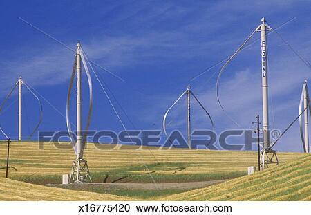 'Wind Farm at Altamont Pass, CA' Stock Image