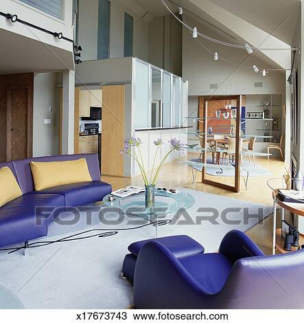Moderne, intérieur maison Banque d\'Image
