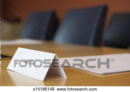 pictures of place name tag on desk x15186148 search stock photos
