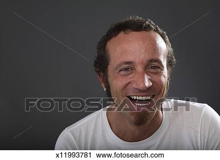 cd52d1855e Hombre maduro, reír, retrato Colección de imágen | x11993781 ...
