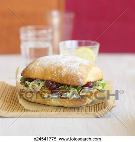 Stock Image Of Turkey Sandwich Close Up X24541775 Search Stock