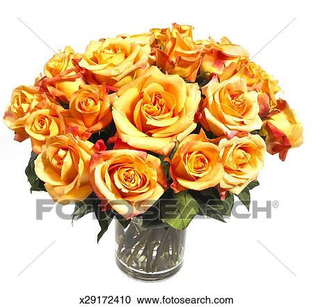 Stock Fotografie - blumen blumenstrauß, von, gelbe rosen, gegen ...