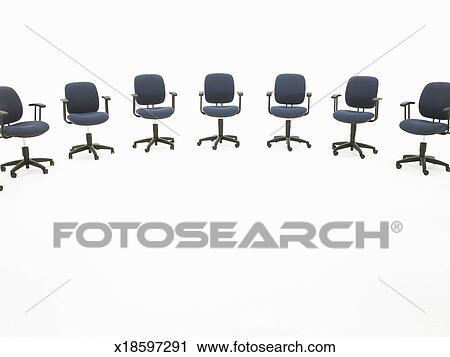 Banques de photographies demi cercle de chaises bureau