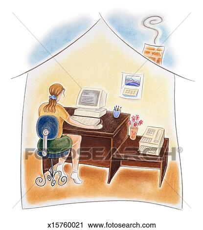 https://fscomps.fotosearch.com/compc/FSD/FSD376/woman-working-in-home-office-clipart__x15760021.jpg