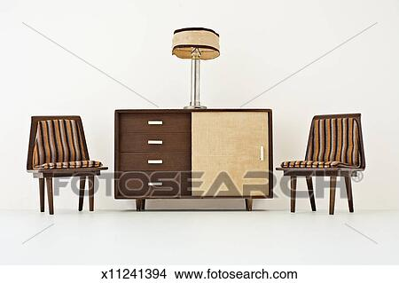 Stock Photo Of Miniature Mid Century Vintage Dollhouse Furniture
