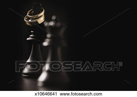 Stock Photography Of King Queen Chess Pieces With Two Wedding