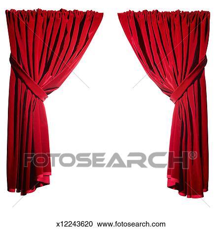 Stock Fotografie - open, rood, fluwelen gordijnen x12243620 - Zoek ...