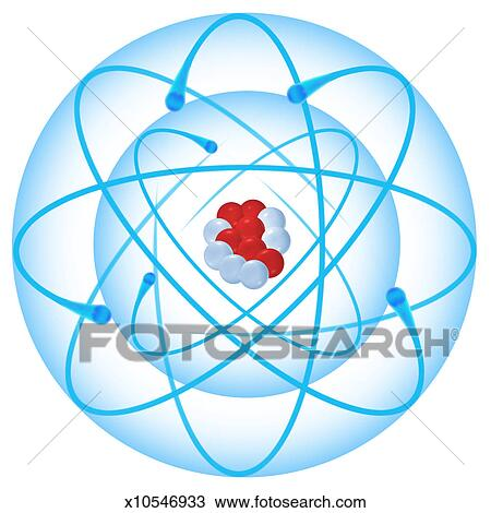 stock photo of diagram of a carbon atom x10546933 search stock