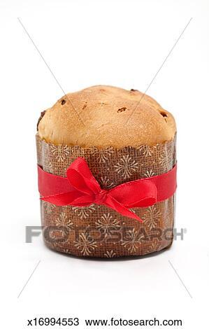 Italian Christmas Cake.Panettone Italian Christmas Cake Stock Image