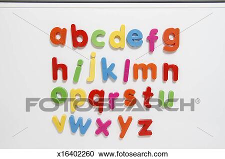 a z coloured fridge magnet letters