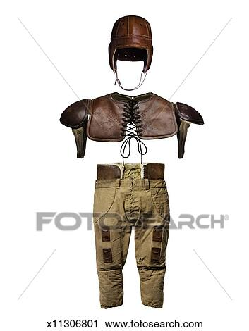 Vintage American Football Outfit Stock Image