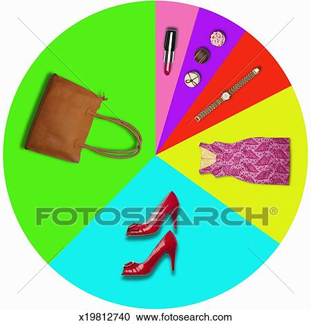 Stock Photography Of Pie Chart Shows Female Luxury Spending