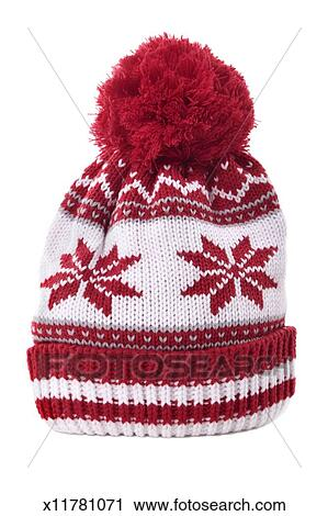 de78d1fc440 Red bobble hat Stock Image
