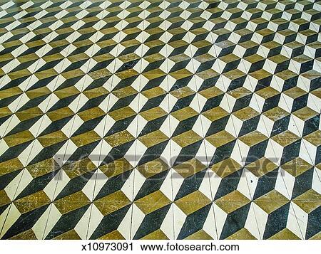 Stock Fotografie 3d Wurfel Geometrisch Boden Muster X10973091